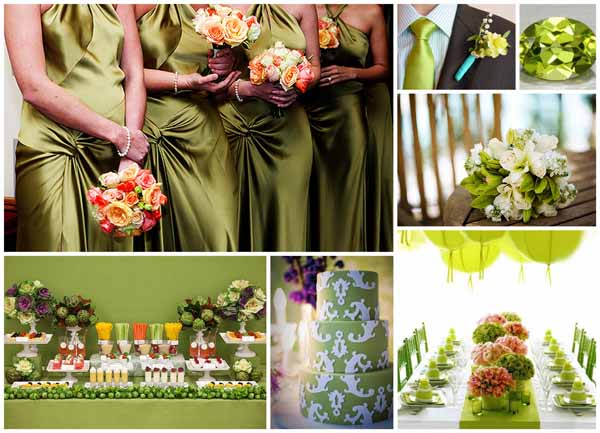 Some fantastic vintage green colour scheme ideas for your August wedding
