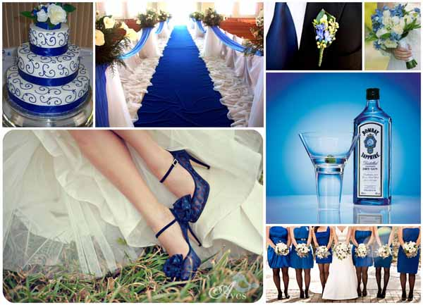 Another super colour that leaps out at you - if done well, sapphire blues can create a memorable wedding look