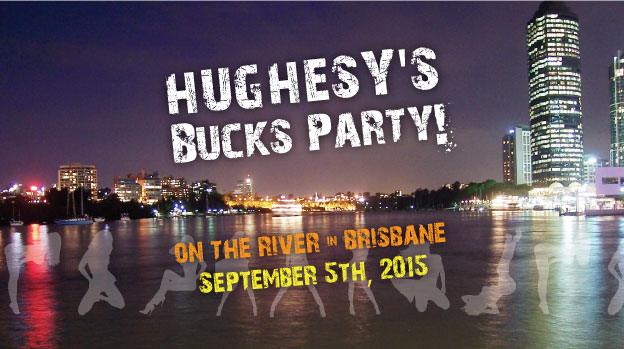 Brisbane's arterial - the Brisbane River - is a perfect location for a boat-based-bucks night extravaganza! This stubby holder design makes the ideal memento of the night.