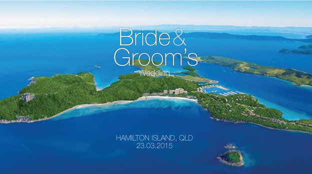 Chill out  apres  wedding by using this stubby holder on your drink while they take care of you on Hamilton Island.