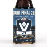 We've worked with the VFL and AFL for small run bespoke custom stubby holders on a number of occasions.