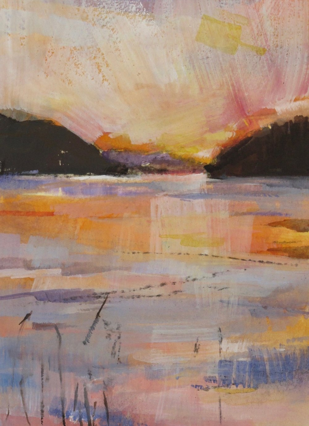 Vignette/Saturna Sunset