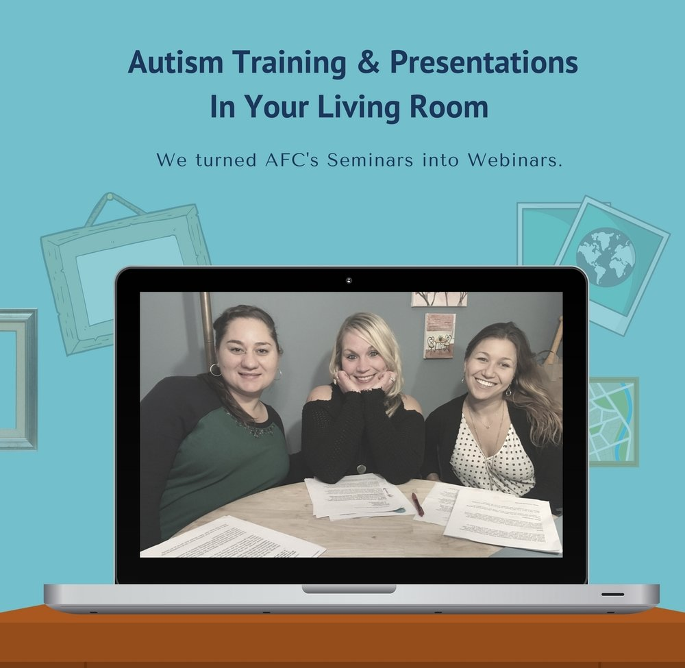 parent autism training online webinar