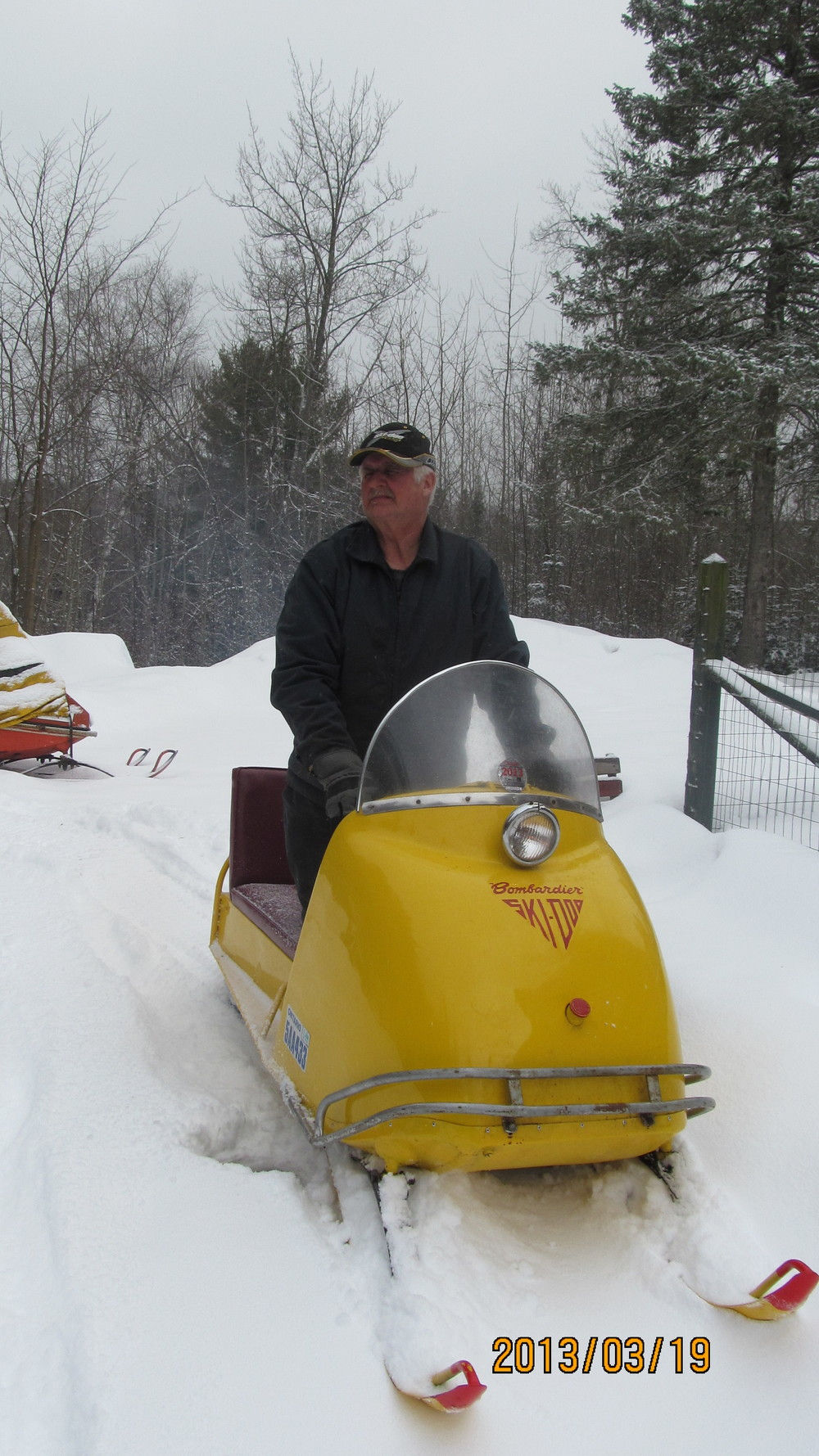 Switzer gets plenty of looks when he rides one of his old sleds into town, and he has participated in a number of community events in the North Hastings region. Photo courtesy Conrad Switzer