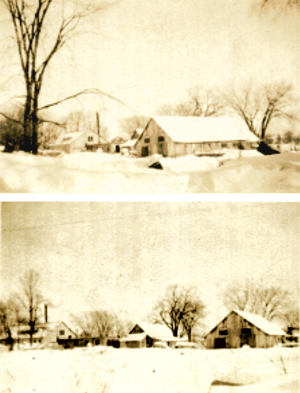 Lost Channel in winter, circa 1940s - photos courtesy of The Tweed News
