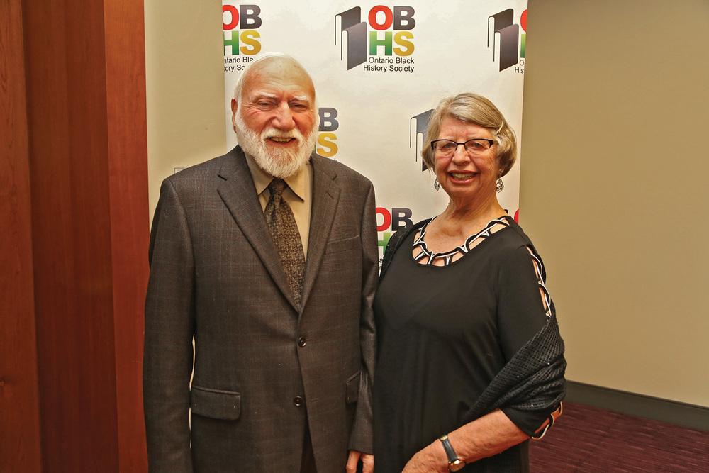 Barry Penhale and his wife Jane Gibson were recently honoured with The Harriet Tubman Award.
