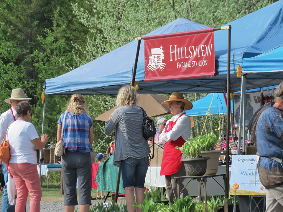 Carol and Hugh Russell of Hillsview Farm and Studios identify the market as a great place for getting to know their customers.