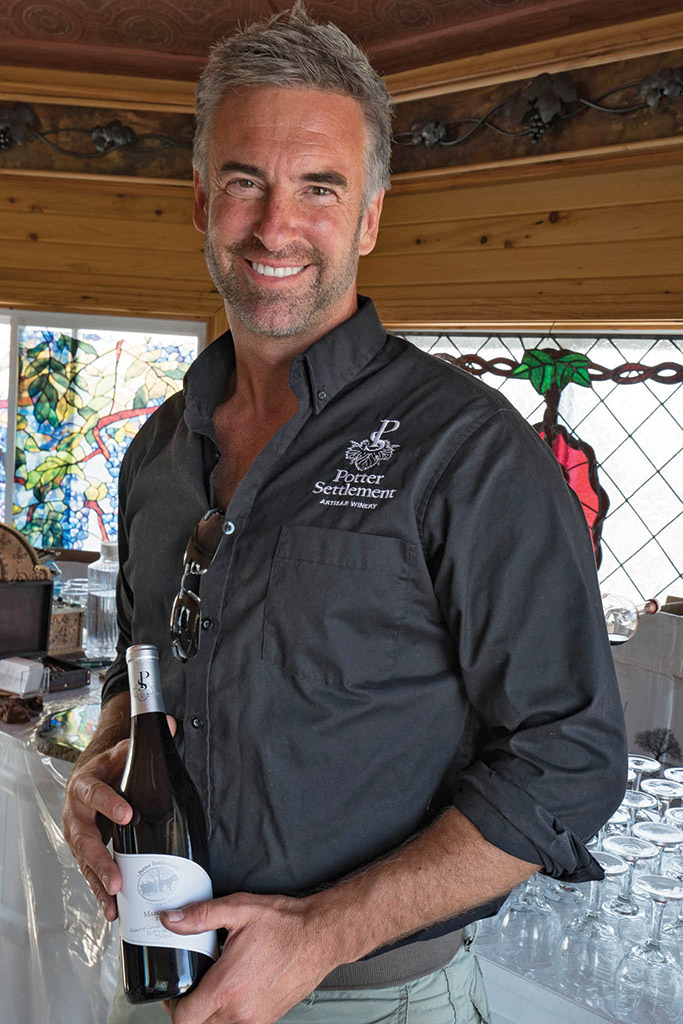 After 17 years of experimenting with heritage-heirloom grapes in Hastings County, trailblazing vintner Sandor Johnson is proud to share Potter Settlement Artisan Wines with the public.  Photo by Gail Burstyn