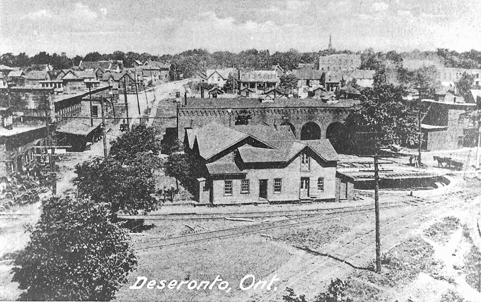 Deseronto, shown in 1878, grew into a model company town, with the Rathbun family owning many houses, stores and even establishing the Opera House for entertainment. Photos courtesy Community Archives of Belleville and Hastings County
