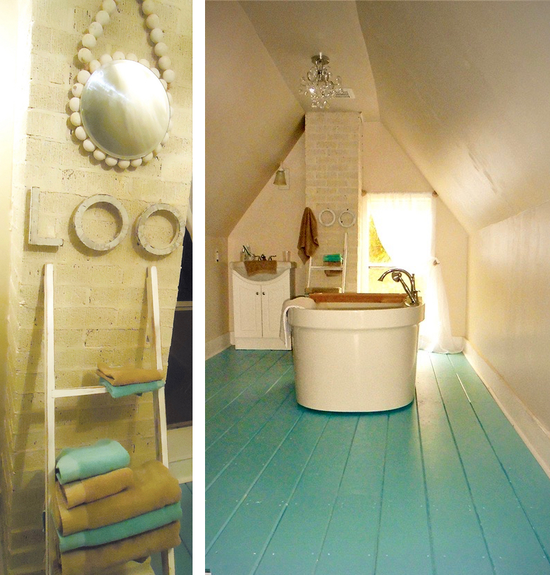 Sometimes an empty space is the greatest inspiration. A previously small unfinished attic is now a lovely bathroom retreat.