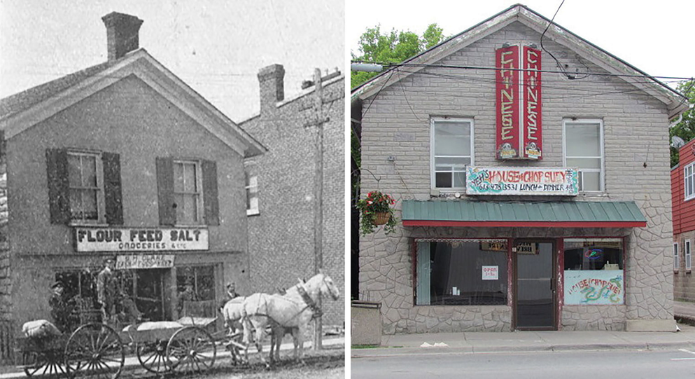 James Reid Store (c.1865) - Tweed then and now.   Historic image courtesy Tweed and District Heritage Society