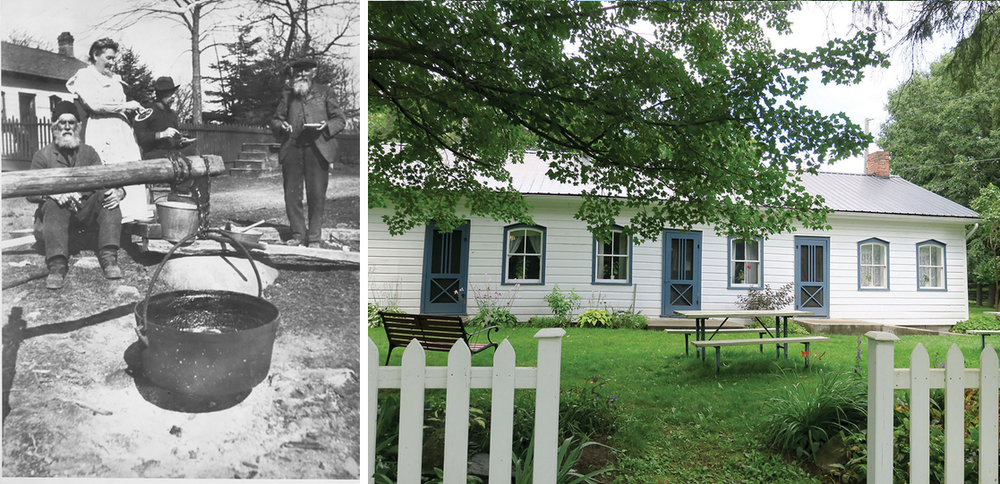 O'Hara Mill Homestead then (before 1848) and now – Madoc   Historic image courtesy Tweed and District Heritage Centre