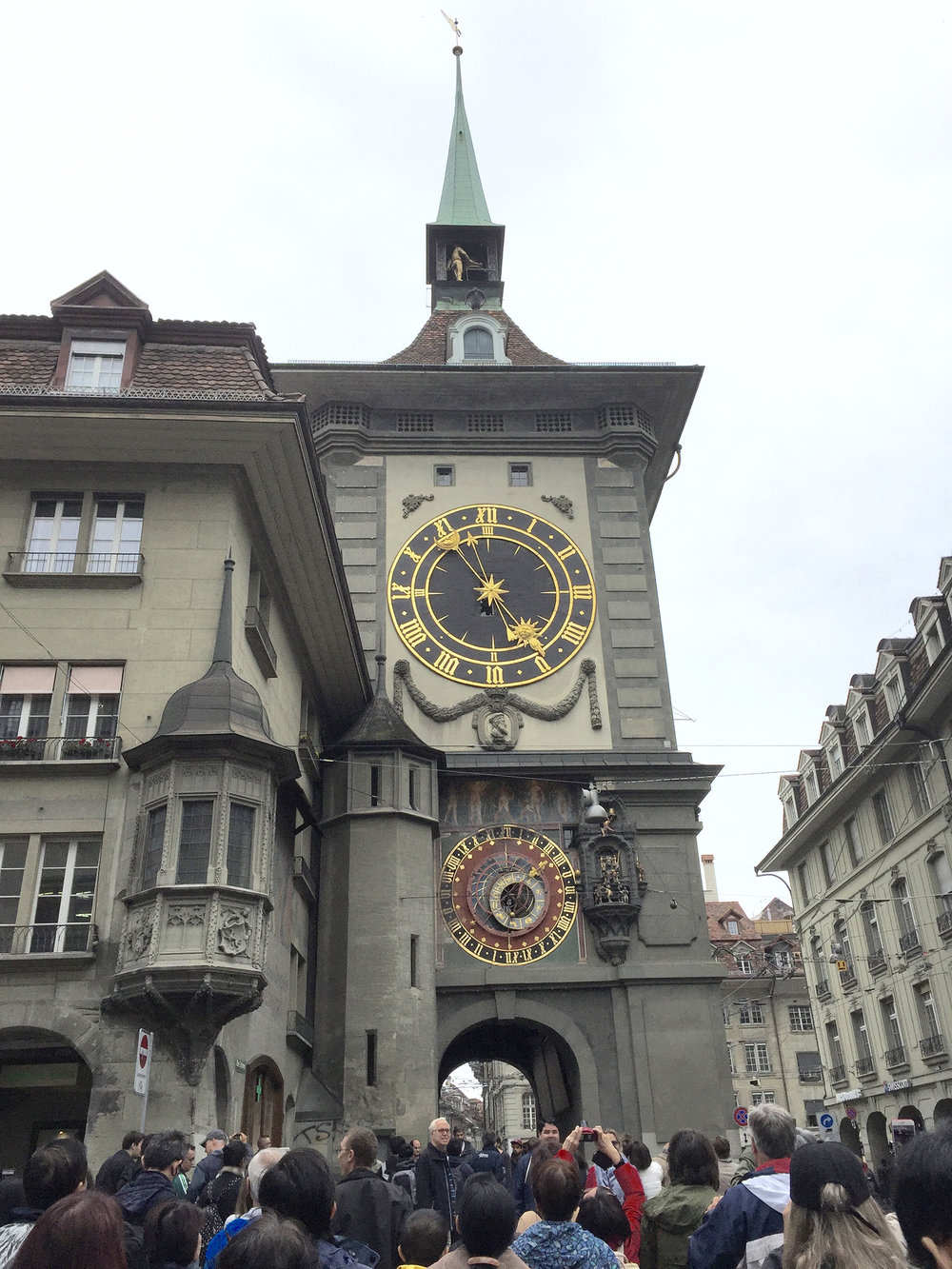 Much like in Hastings County, wonderful daytrip destinations are within driving distance. This is the 500-year-old town clock in Bern.