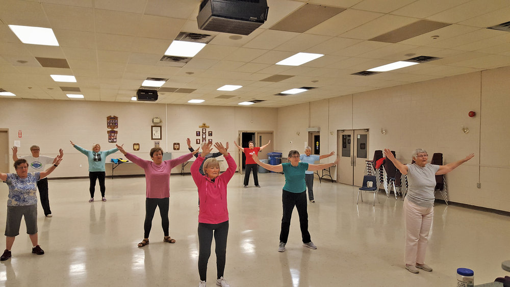 The Marmora Community Centre hosts the Silver Foxes sessions, and participants range in age from mid-50s to over 80.
