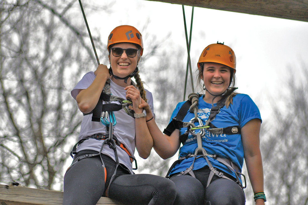 Camp Quin-Mo-Lac focuses heavily on outdoor education, featuring a high ropes course, archery, orienteering, and teamwork and leadership building. Photo Courtesy of Camp Quin-Mo-Lac.