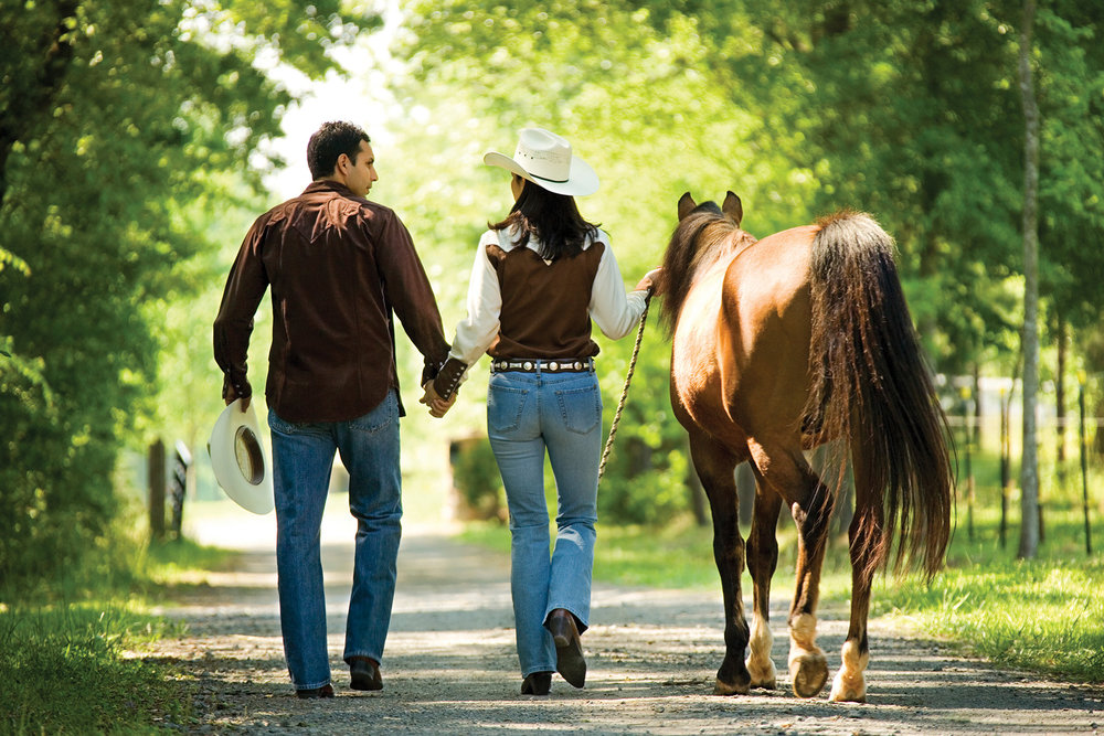 Equestrian enthusiasts depend on the trail for the health and fitness of their steeds. Photo courtesy Eastern Ontario Trails Alliance.