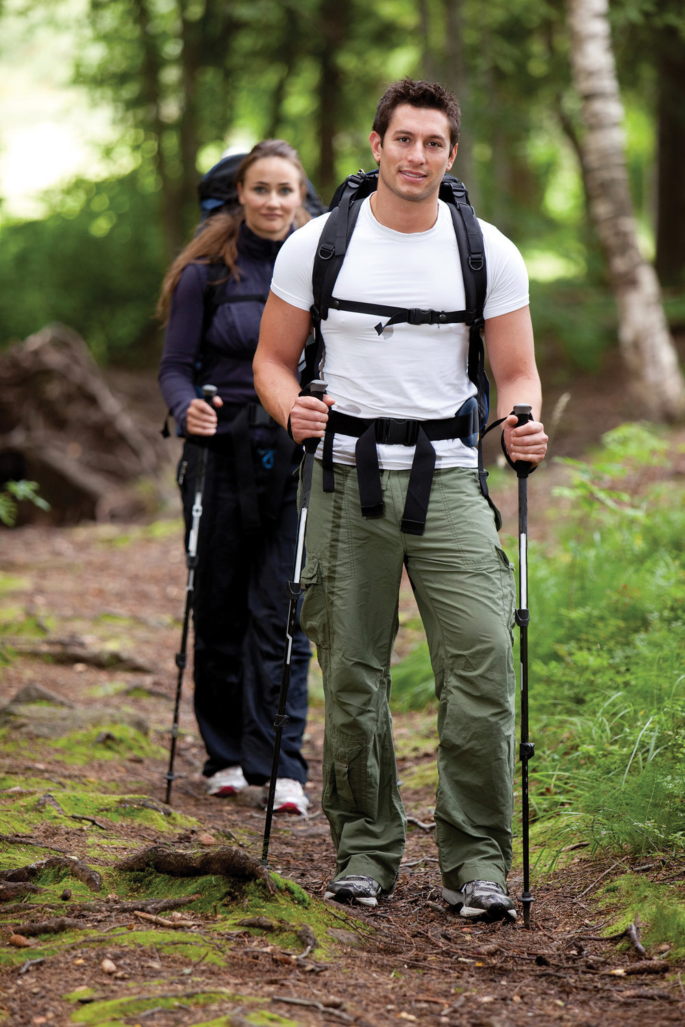 Staying fit and having fun, power-walking has become a favourite sport along the trail. Photo courtesy Eastern Ontario Trails Alliance.
