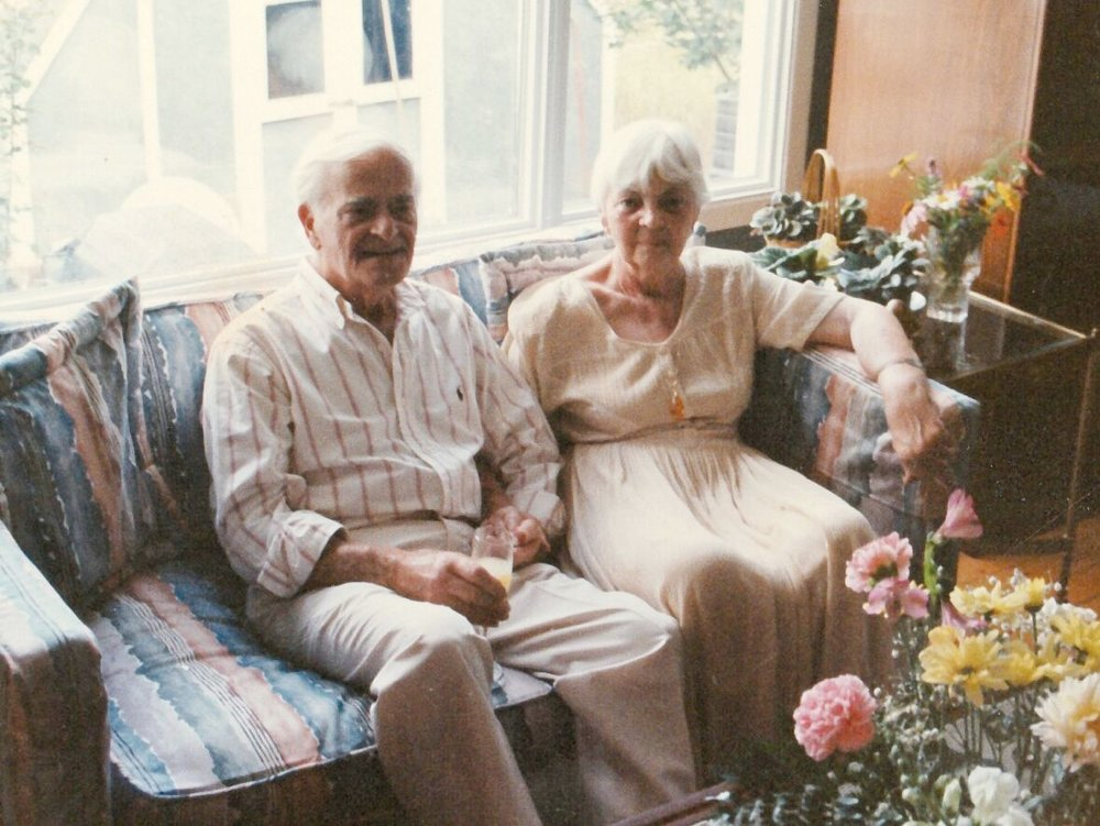 A life-time of loving companionship is clearly reflected from the faces of Harry and Friede. Photo courtesy of Smith Family archives.