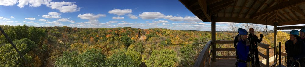 Minnesota Fall Colors Zip Line Adventure