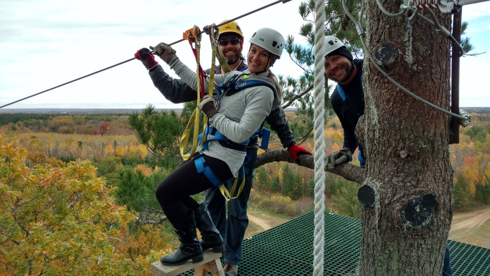 Brainerd Fall Colors Zip Line Adventure