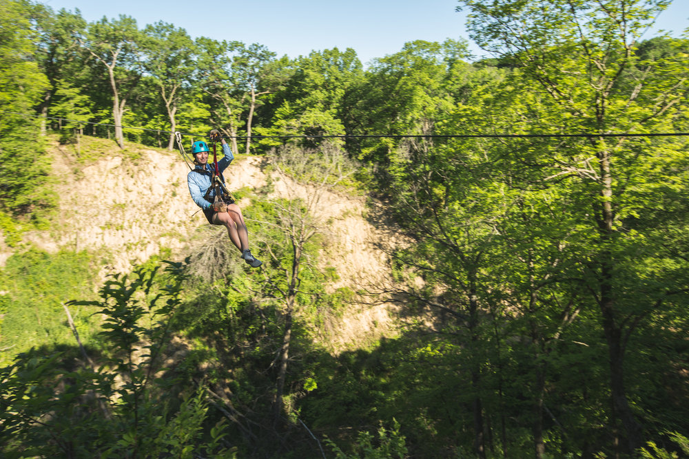 Minnesota River Valley Zip Line Adventure
