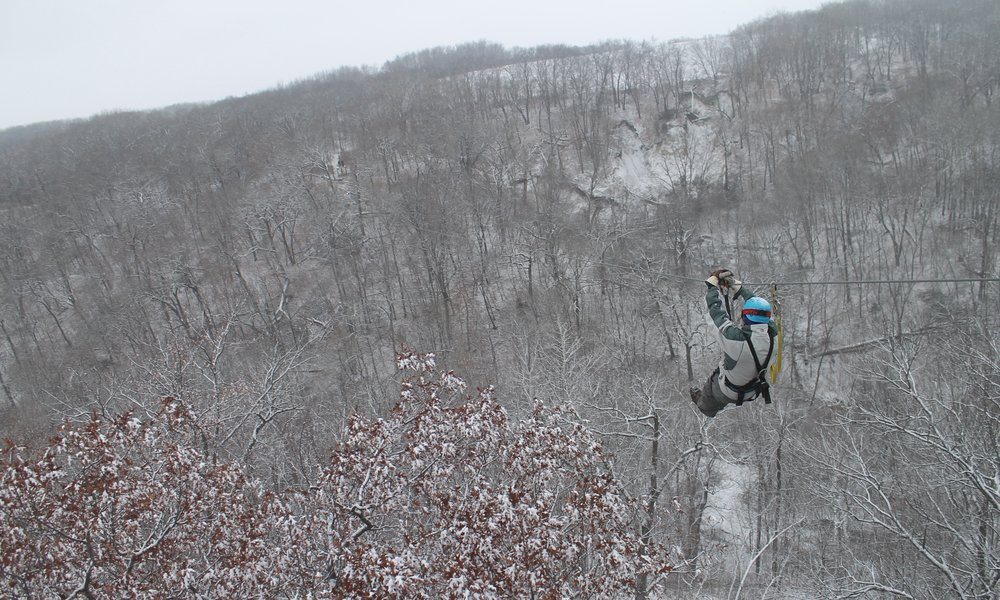 Minnesota winter adventure zip line experience