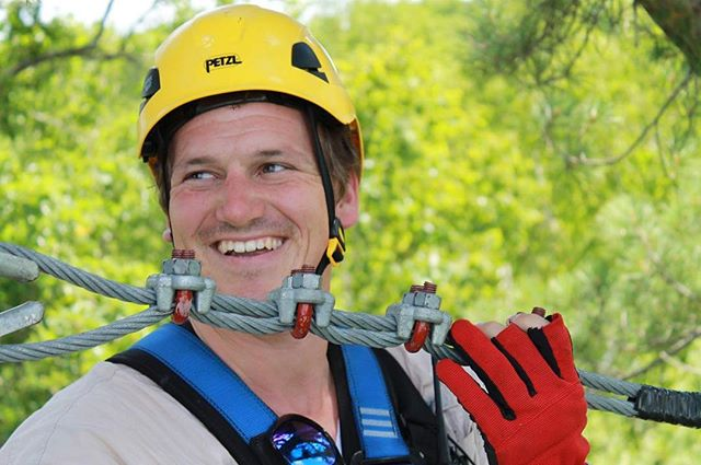 Zip Tip: Laugh at the guides jokes. It makes you safer. #zipline #brainerd #brainerdlakesarea #onlyinmn #nisswa