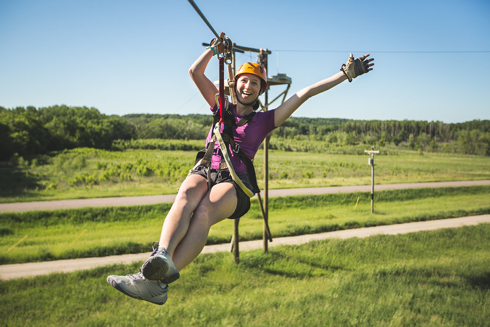 Looking for More Adventure? - Kerfoot Canopy Tour is one of Minnesota's longest, highest, and fastest zipline tours. Conveniently located in the same location as the Adventure Park.
