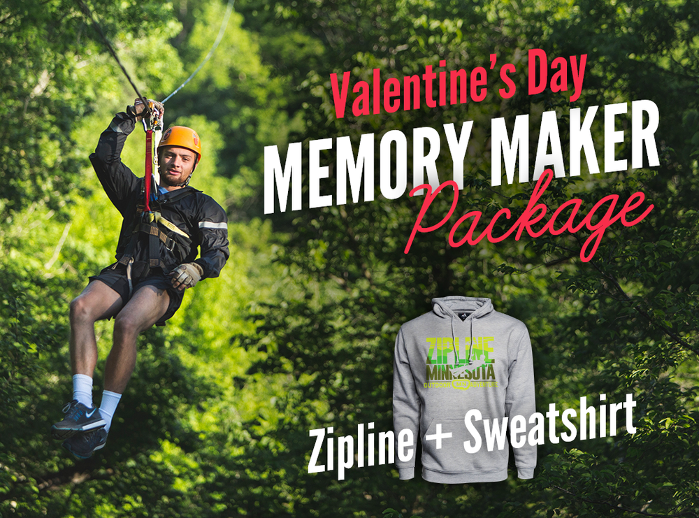 Kerfoot Canopy Tour Adventure + 2 Minnesota Zipline Sweatshirts $199