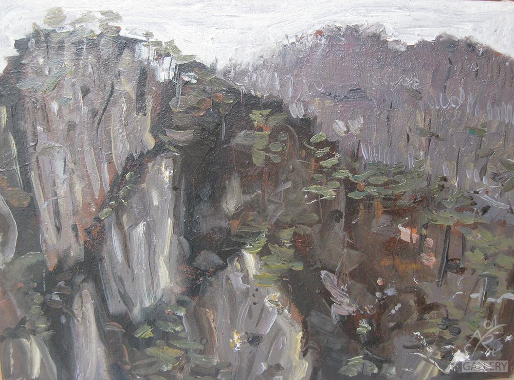 CliffFace Yellow Mountain