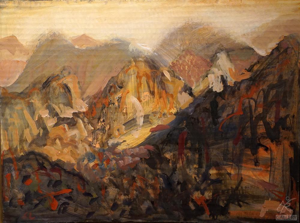 Along the Range, Mountain Study