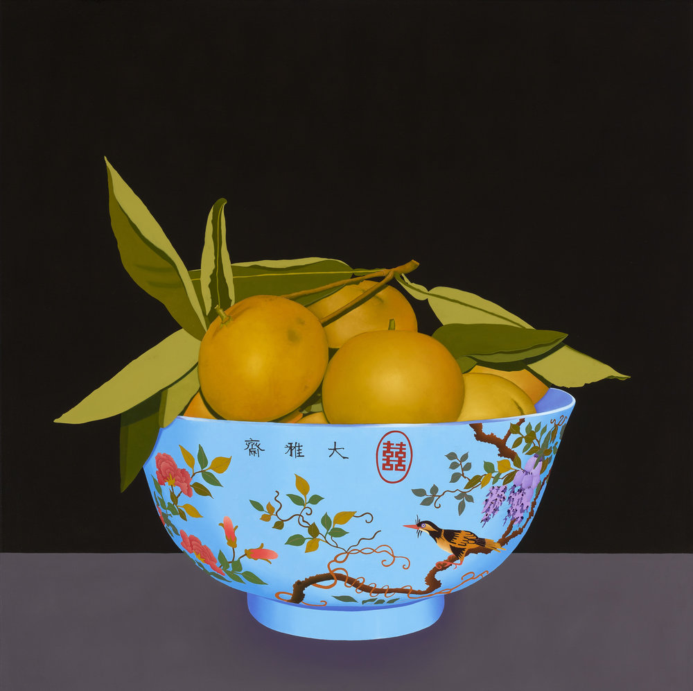 Still Life with Chinese Blue Bowl