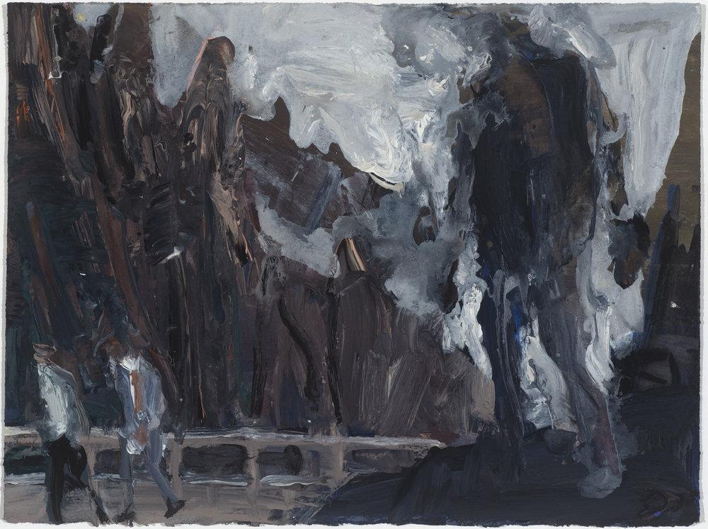 Golem study 10/16  石人考察10/16   Euan Macleod , 2016  Acrylic on paper, 29 x 38 cm, HKD 9,800 framed