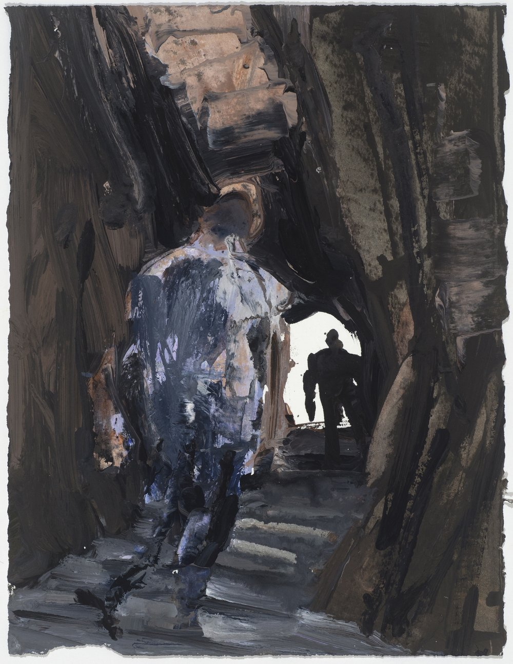 Cave study with light exit 10/16  洞穴考察與光明的出口10/16   Euan Macleod , 2016  Acrylic on paper, 38 x 29 cm, HKD 9,800 framed