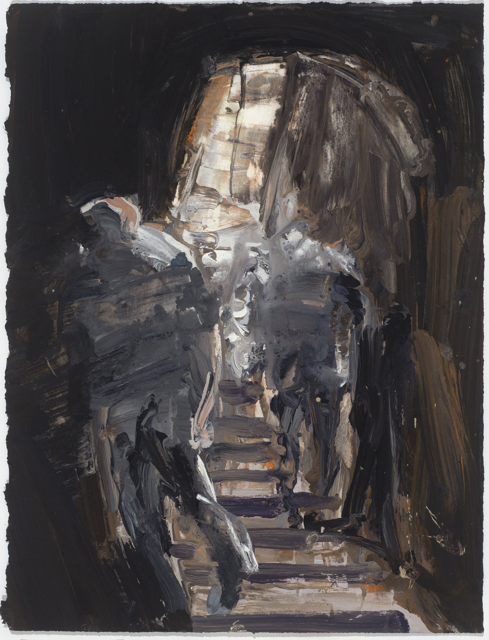 Cave 10/16  洞穴 10/16   Euan Macleod , 2016  Acrylic on paper, 40 x 30 cm, HKD 9,800 framed