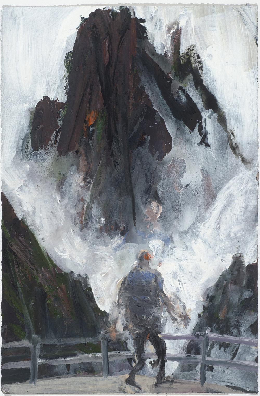Mist V 10/16  霧 V 10/16   Euan Macleod , 2016  Acrylic on paper, 50 x 33 cm, HKD 12,000 unframed
