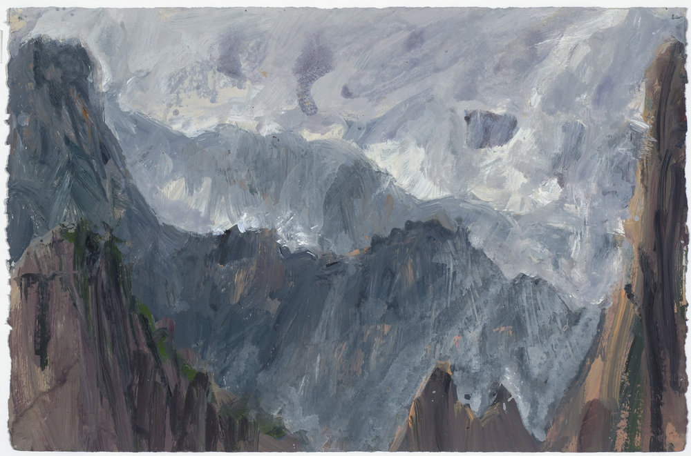 Mist 1 10/10/16  霧 1 10/10/16   Euan Macleod , 2016  Acrylic on paper, 38 x 58 cm, HKD 14,800 framed