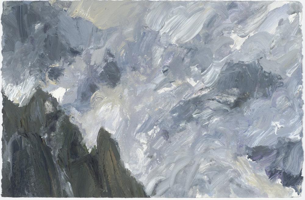 Mist 2 10/10/16  霧 2 10/10/16   Euan Macleod , 2016  Acrylic on paper, 38 x 58 cm, HKD 13,400 unframed