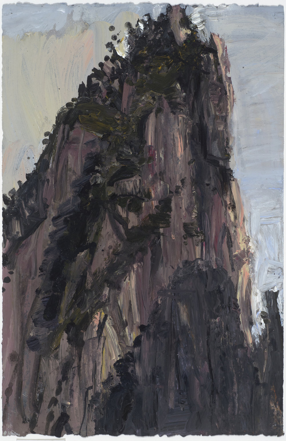Vertical tower 8/10/16  垂直的塔8/10/16   Euan Macleod , 2016  Acrylic on paper, 58 x 38 cm, HKD 14,800 framed