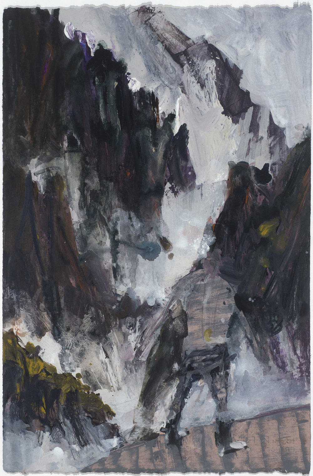 Misty mountain study 10/16  霧裡山考察10/16   Euan Macleod , 2016  Acrylic on paper, 58 x 38 cm, HKD 14,800 framed
