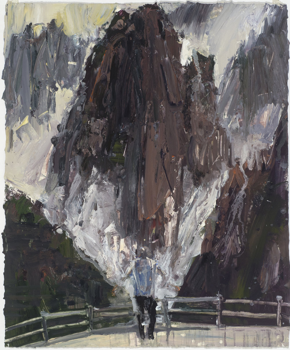 YM - Moses study  黃山– 摩西考察   Euan Macleod , 2016  Acrylic on paper, 81 x 67 cm, HKD 29,300 framed