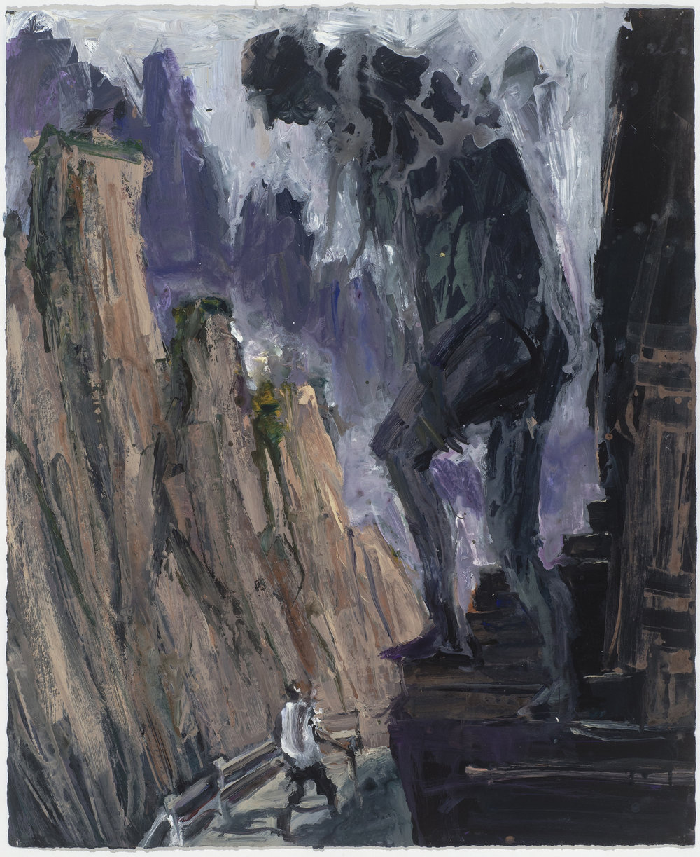 Large Golem study  巨型石人考察   Euan Macleod , 2016  Acrylic on paper, 80 x 66 cm, HKD 29,300 framed