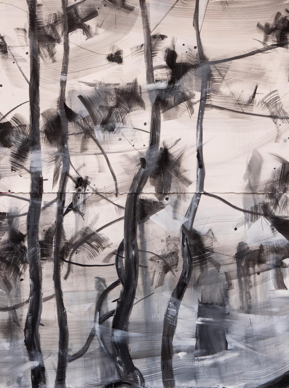 Restless, Zahnjiajie, 2018, acrylic, graphite on unprimed 640 gsm arches, 204 x 153 cm.jpg