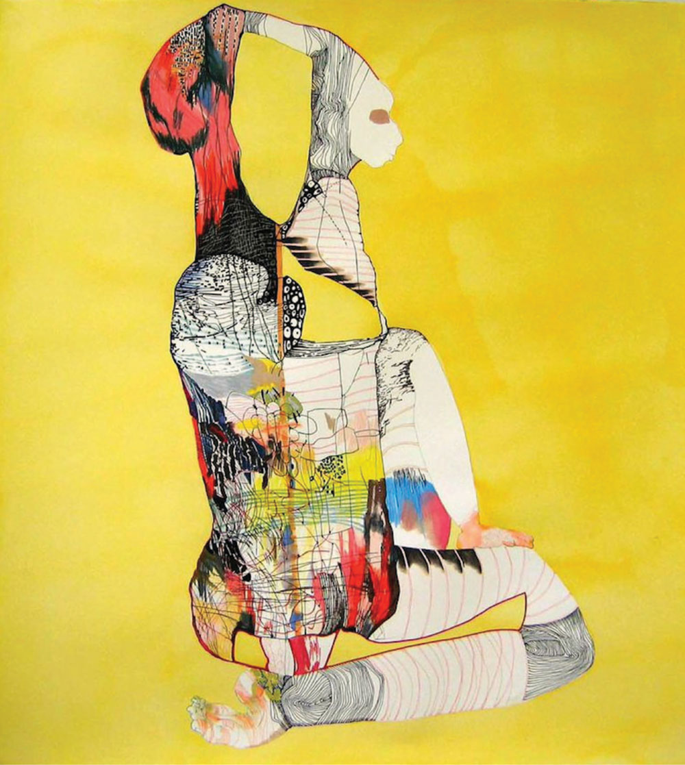 """Yellow African"" 2009 by Kansas City artist, professor and curator Anne Austin Pearce, available at Sherry Leedy Contemporary Art Gallery"