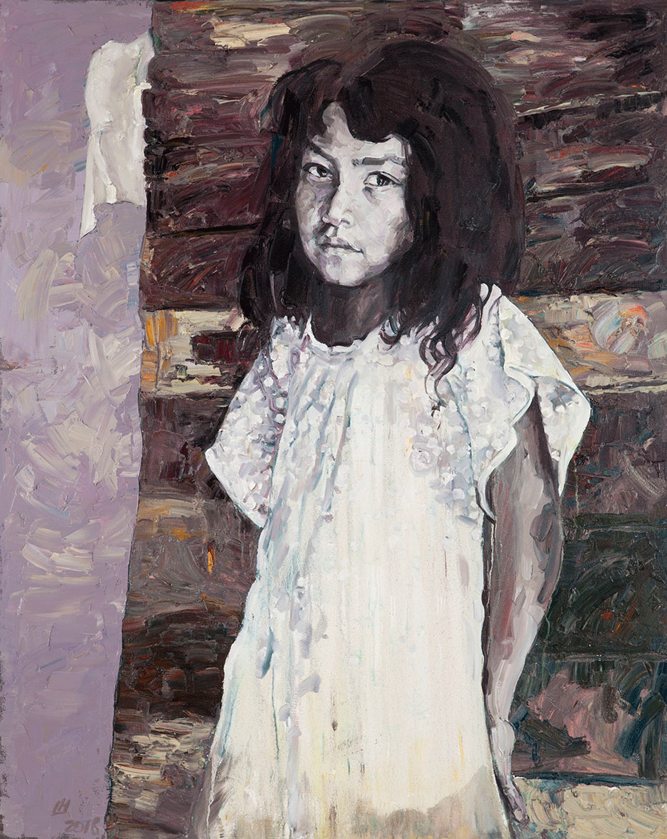 Angel Wing, 2015, Oil on canvas, 60 x 48 Inches