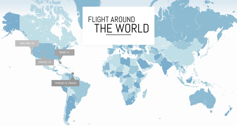 Flight Around the World — Fly With Amelia