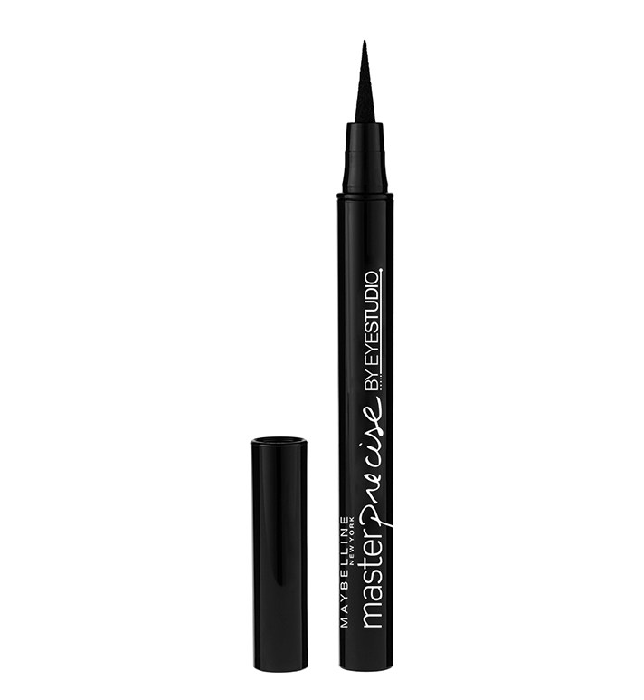These liners both have ultra-skinny, felt-tip brushes, making it easy to swipe a bold line across your lash lines. Not only is it the best drugstore dupe for Kat Von D's liner, but it also truly doesn't budge or flake.