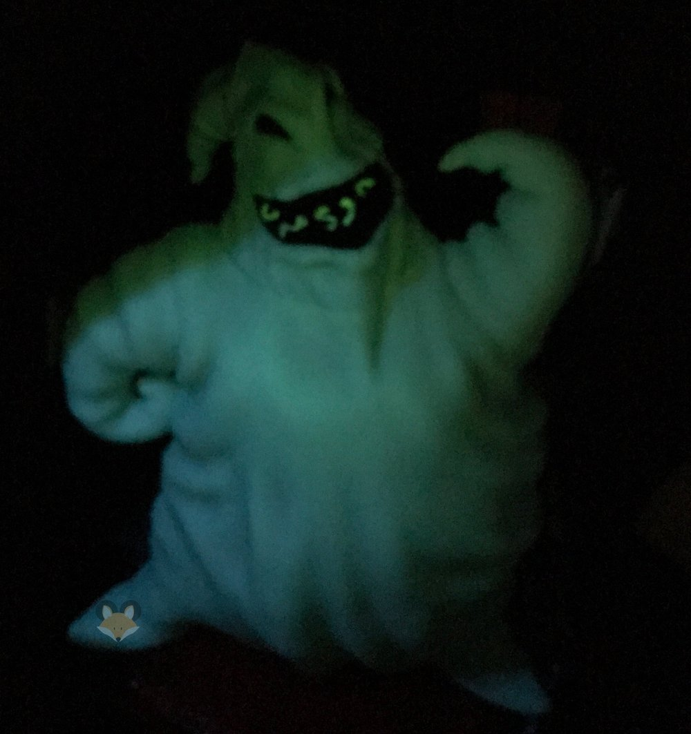 Here's Mr. Oogie Boogie glowing with all his fright.