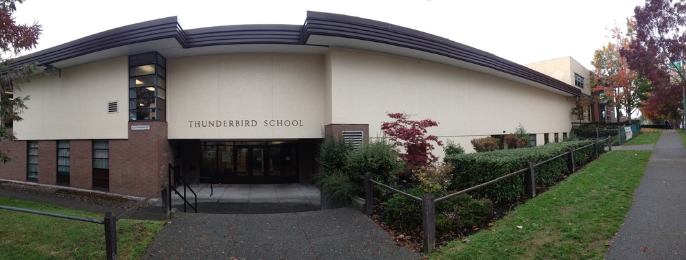 ThunderBird Community Centre is located right next to The Thunderbird Elementary School. Both Are on seeded