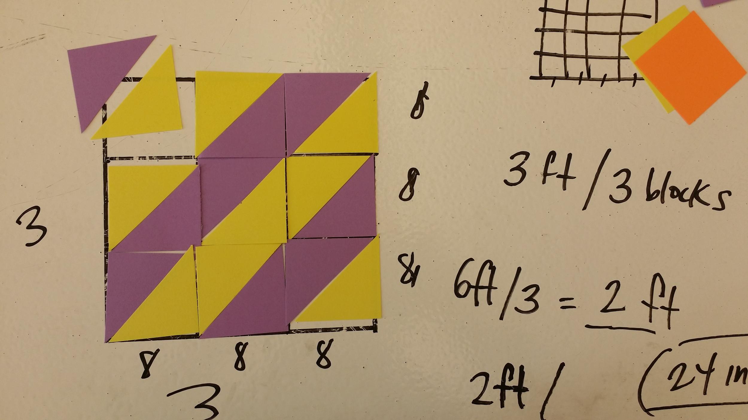 Quilting tangrams